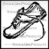Sneaker Stencil by Sue Pelletier