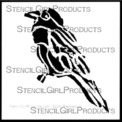 Perched Bird Stencil by Kimberly Packwood