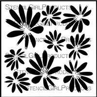 Tossed Blossoms Stencil by Terri Stegmiller