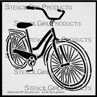 Bicycle Cruiser Stencil by Pippin Schupbach