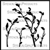 Budding Branches Stencil by Cecilia Swatton
