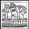 Whimsy House Stencil by Jamie Fingal