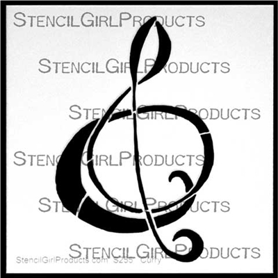 Plain Clef Stencil by Nancy Curry