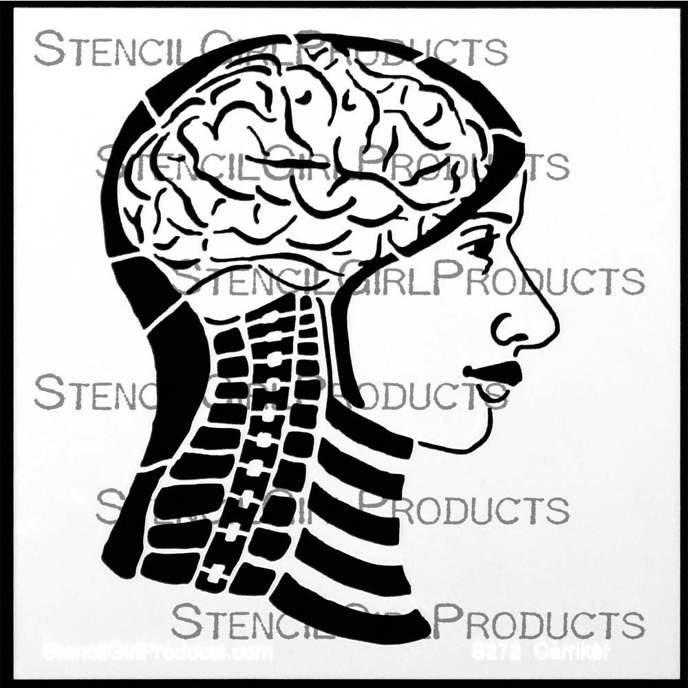 Gross Anatomy Inside My Head Stencil
