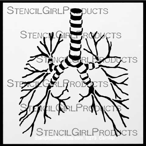 Gross Anatomy One Breath at a Time | Pam Carriker | StencilGirl Products