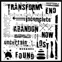 Text and Texture Transform Stencil by Seth Apter