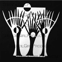 Trio of Trees Stencil by Carol Wiebe