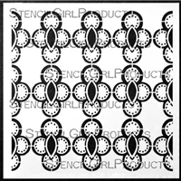 Ornamental Circle Cluster Screen Stencil by Gwen Lafleur