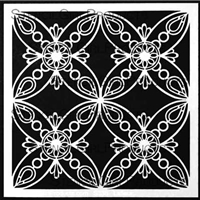Ornamental Petals Screen Stencil by Gwen Lafleur