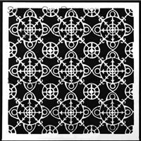 Ornamental Compass Screen Stencil by Gwen Lafleur