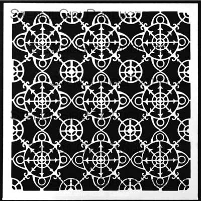 Ornamental Compass Screen Stencil by Gwen Lafleur