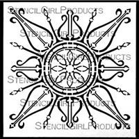 Decorative Curvy Ornament Stencil by Gwen Lafleur