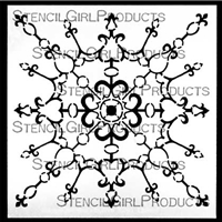 Decorative Filigree Ornament Stencil by Gwen Lafleur
