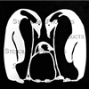 Penguin Family Stencil by Cecilia Swatton