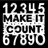 Make it Count Stencil by Seth Apter