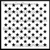 Military Style Stars Stencil by June Pfaff Daley