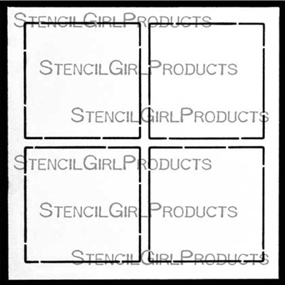 Grid Outline 2 by 2 Stencil by Mary Beth Shaw