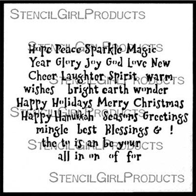 Holiday Sayings 6 Stencil by Mary Beth Shaw