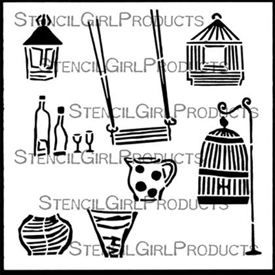 Habitat Decor Stencil by Angela Cartwright