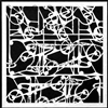 Ornamental Iron Curls Stencil by Cecilia Swatton