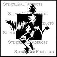 Thorn Plant Stencil by Jane Dunnewold