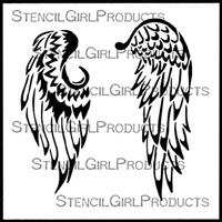 Baby Angel Wings Stencil by Kristie Taylor