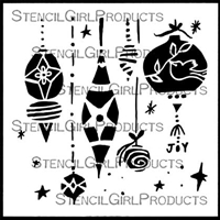 Vintage Ornaments Stencil by Cathy Nichols