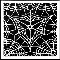 Webbed Medallion Stencil by Cecilia Swatton