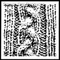 Cable Knit Stencil by Pam Carriker