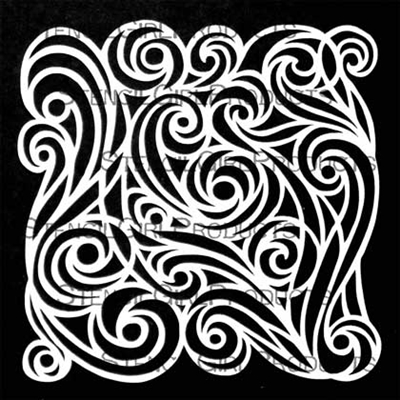 StencilGirl - Spirit Swirl Mask