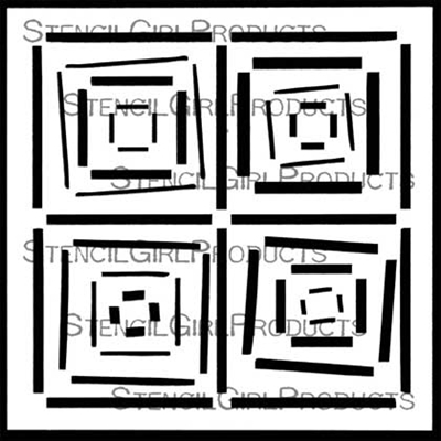 Four Square Quilt Small Stencil by Mary Beth Shaw