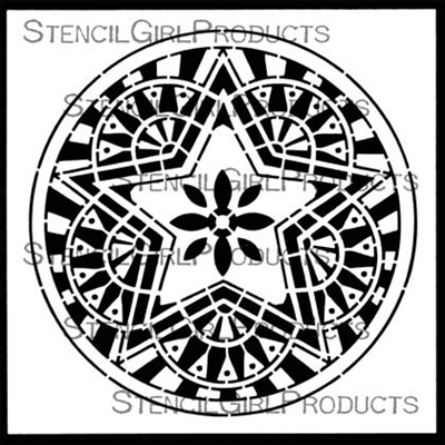 Boho Star Circle Stencil by Gwen Lafleur