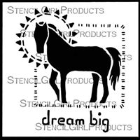Dream Big Stencil by Roxanne Evans Stout