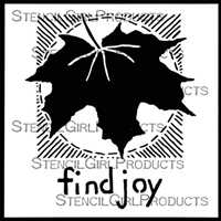 Find Joy Stencil by Roxanne Evans Stout