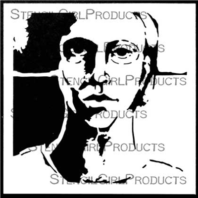 Strength Face Stencil by Pam Carriker depicts the portrait of a person who is standing their ground against the pressures of modern life. Use it in your art journal, mixed media artwork, and more with paints, soft pastels, or even watercolors. Shop now!