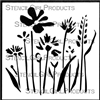Wildflowers Stencil by Jennifer Evans