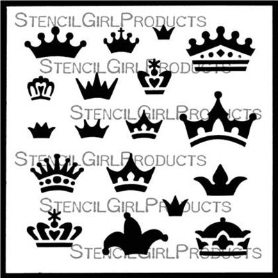 Doll Crowns Stencil by Valerie Sjodin