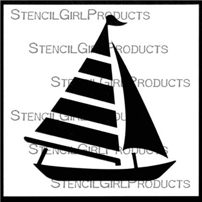 Sailboat Stencil by Mary C. Nasser