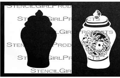 Ginger Jar Stencil with Mask by Jill McDowell
