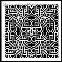 Tile Maze Stencil by Mary Beth Shaw