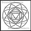 Root Chakra Stencil by Kathryn Costa