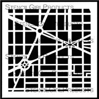 City Map Stencil by Mary C. Nasser