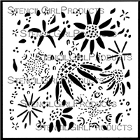 Floral Sampler Stencil by Kristin Williams