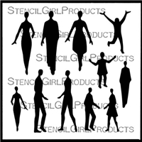 Small Figures People Stencil by Valerie Sjodin