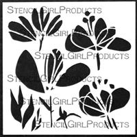 Playful Petals Stencil by Jennifer Evans