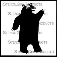 Happy Bear Stencil by Angela Treat Lyon