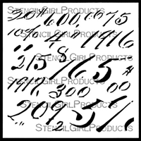 Vintage Ledger Numbers Stencil by Jennifer Evans