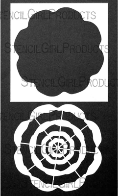 Floral Swatch Wheel Stencil with Mask by Rae Missigman