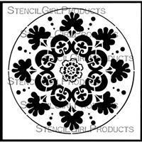 Suzani Circle Medallion Stencil by Gwen Lafleur
